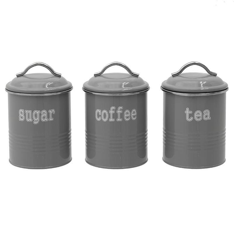 Δοχείο Καφέ/Ζάχαρης/Τσαγιού Σετ Των 3